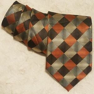 Alexander Julian Diamond Checkerboard Pattern Tie